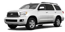 large, white toyota SUV