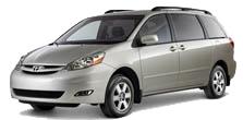 grey toyota Sienna minivan