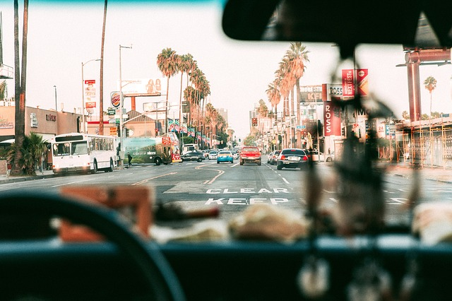 Surface Streets Driving Los Angeles