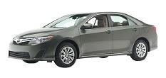 grey Toyota camry, four-door sedan, newer model